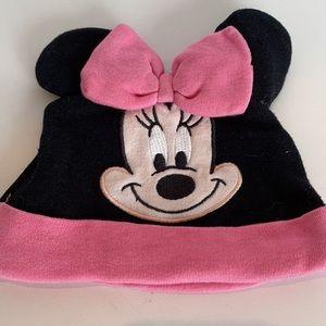 Disney baby Minnie mouse beanie, size 0-6 months